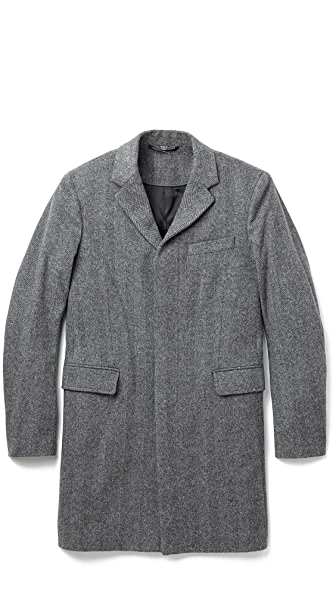 Vince Herringbone Wool Topcoat