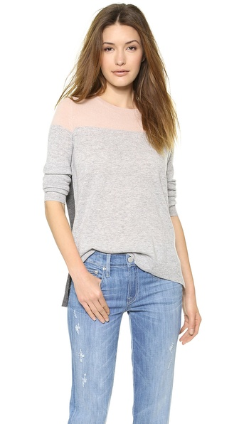 Vince Colorblock Crew Cashmere Sweater