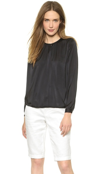 Vince Cross Front Drape Top