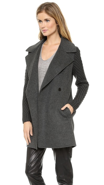 Vince Sweater Sleeve Coat