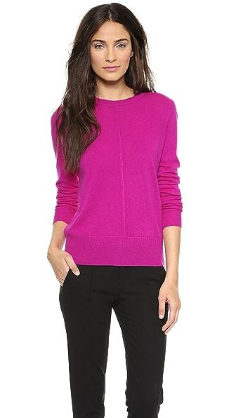 Vince Pointelle Trim Cashmere Sweater