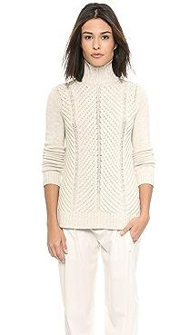 Vince Chevron Turtleneck Sweater