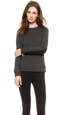 Vince Quilted Detail Sweatshirt