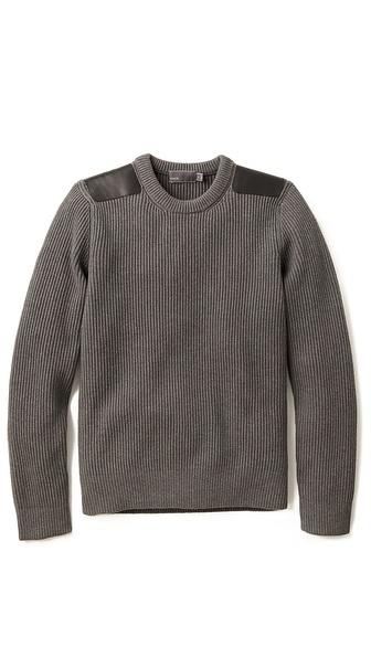 Vince Shoulder Patch Sweater