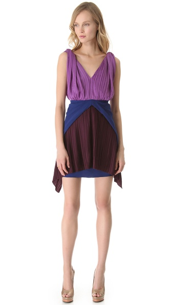Vionnet Sleeveless V-Neck Dress