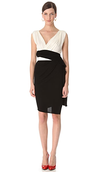 Vionnet Crepe Contrast Dress