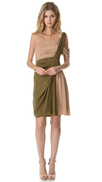 Vionnet One Shoulder Dress