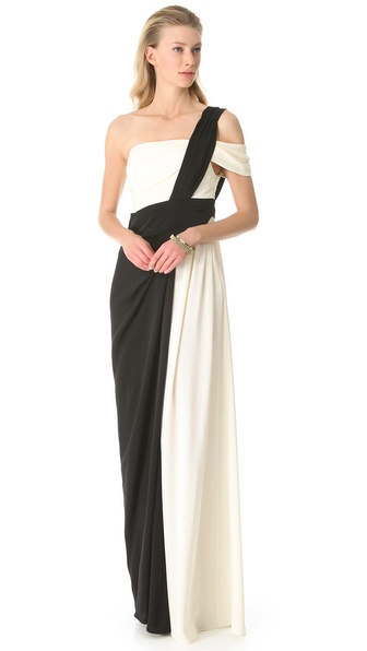 Vionnet One Shoulder Gown