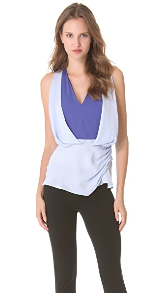 Vionnet Sleeveless V-Neck Top