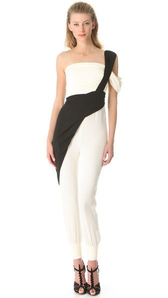 Vionnet One Shoulder Jumpsuit