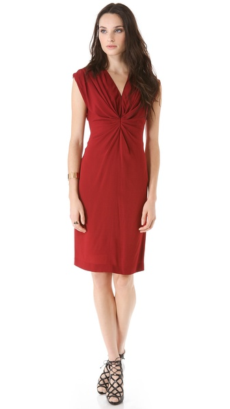 Vionnet Sleeveless Gathered Dress