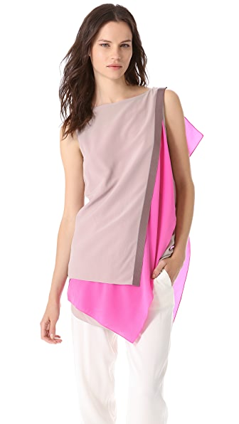 Vionnet Paneled Sleeveless Tunic