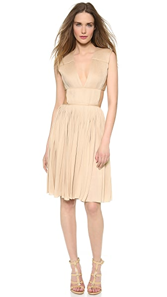 Vionnet Pleated Jersey Dress