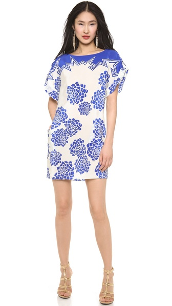 Vionnet Crepe De Chine Lotus Print Dress