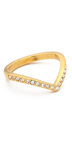 Vita Fede Mini Crystal V Ring at Shopbop / East Dane