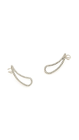 Vita Fede Teardrop Full Crystal Hook Earrings