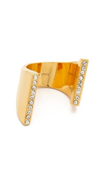 Vita Fede Lia Double Crystal Ring