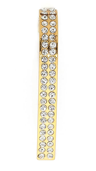 Vita Fede Comma Crystal Earring - Gold/Clear