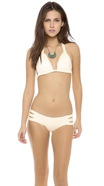 Vitamin A Chloe Braid Halter Bikini Top