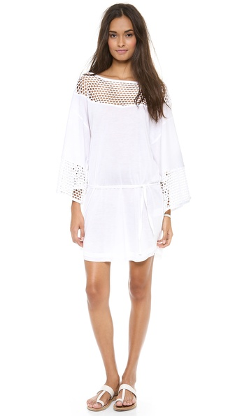 Vitamin A Le Corbusier Mesh Inset Dress