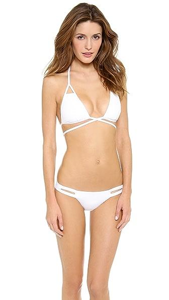 Vitamin A Serra Keyhole Wrap Bikini Top