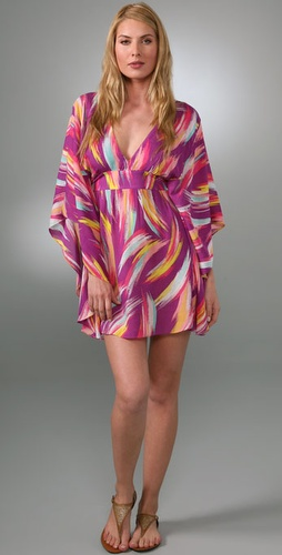 Vix Swimwear Santorini Tie Cover Up Caftan