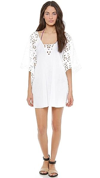 ViX Swimwear Solid White Nepal Caftan