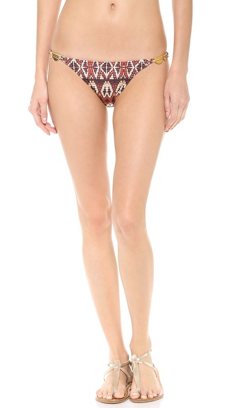 Shop Vix Swimwear online and buy Vix Swimwear Paje Bikini Bottoms Paje - A southwestern print brings a graphic touch to these Vix Swimwear bikini bottoms, and gold tone beads add a luxe finish. Lined. Shell: 84% polyamide/16% elastane. Lining: 87.5% polyamide/12.5% elastane. Hand wash. Imported, Brazil. Available sizes: L