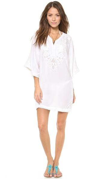 Vix Swimwear Solid White Caftan - White