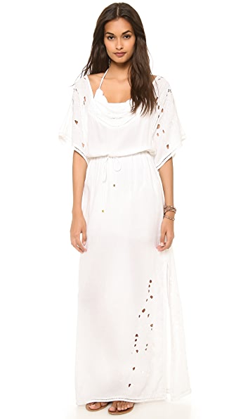 Vix Swimwear Solid White Paola Dress