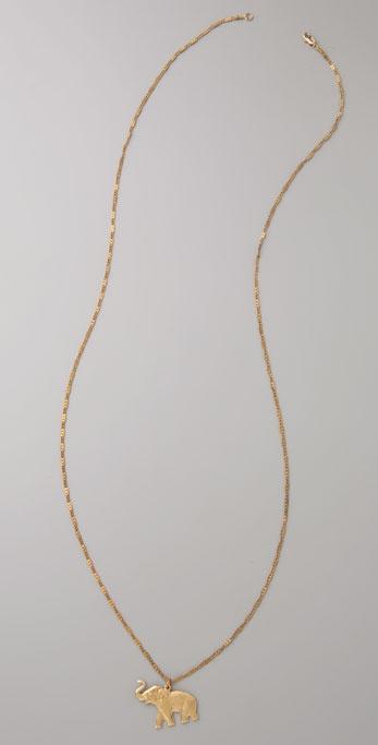 Vanessa Mooney Elephant Necklace