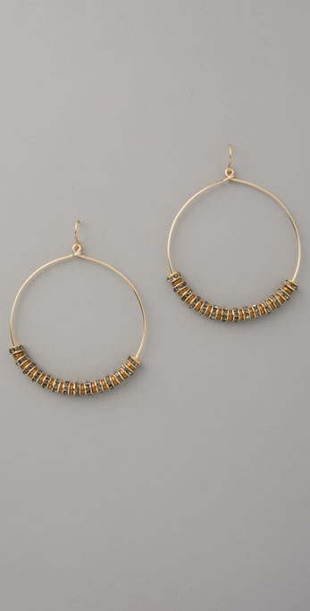 Vanessa Mooney Smokey Rhinestone Hoops
