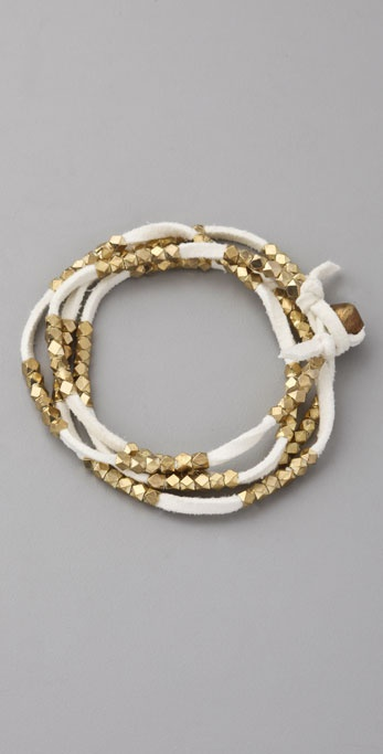 Vanessa Mooney Gold Nuggets Necklace / Wrap Bracelet
