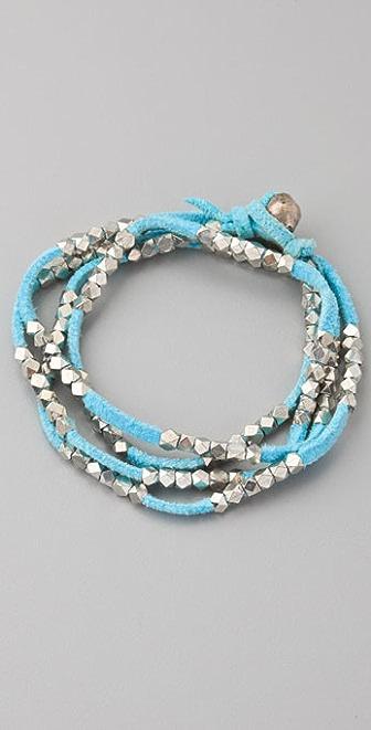 Vanessa Mooney Silver Nuggets Necklace / Wrap Bracelet