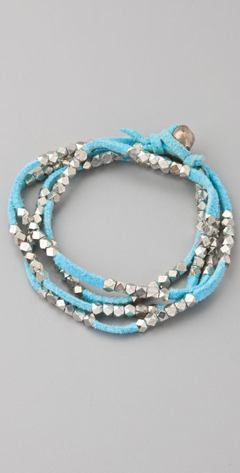 Vanessa Mooney Silver Nuggets Necklace / Wrap Bracelet