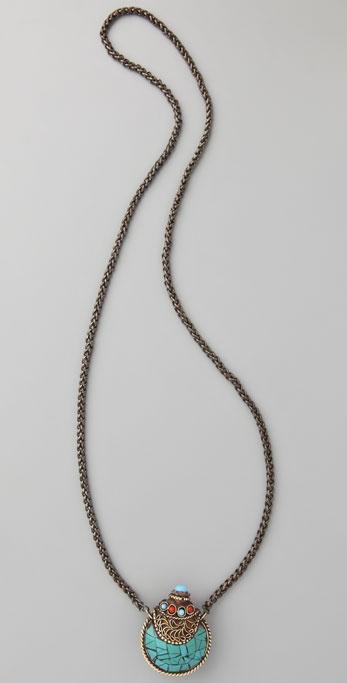 Vanessa Mooney Large Nepalese Turquoise Necklace