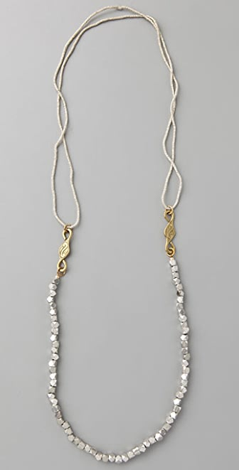 Vanessa Mooney Silver Cube Necklace