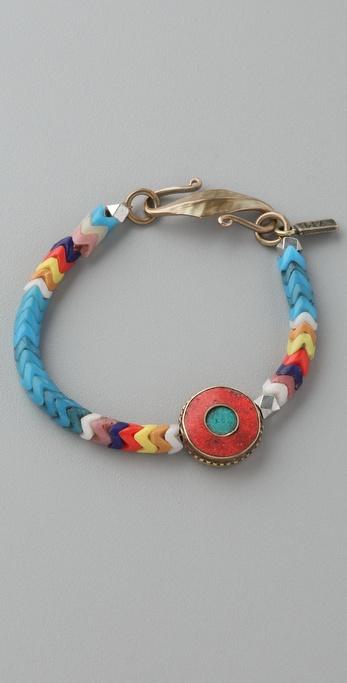 Vanessa Mooney African Glass Bracelet
