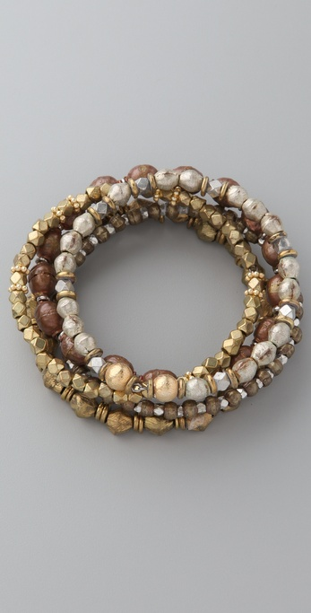 Vanessa Mooney Vintage Bead Bangle Set
