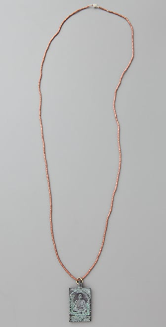 Vanessa Mooney Buddha Square Amulet Necklace