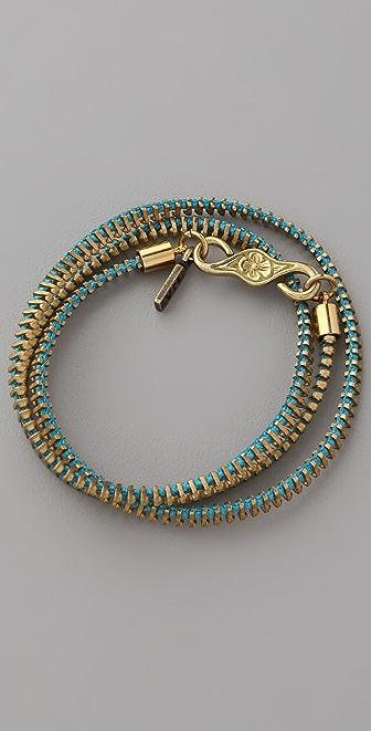 Vanessa Mooney Zip Me Up Small Wrap Bracelet