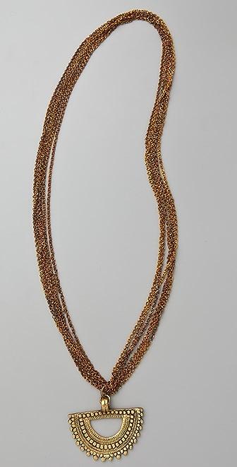 Vanessa Mooney Mayan Half Moon Necklace