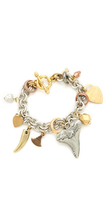 Vanessa Mooney Charm & Chain Tooth Bracelet