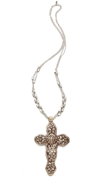 Vanessa Mooney Destiny Cross Necklace