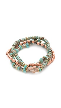 Vanessa Mooney Bright Side Of The Road Copper Bracelet Set