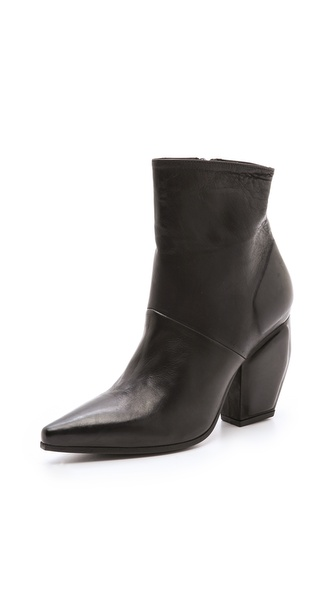 Vic Matie Point Toe Mid Heel Booties