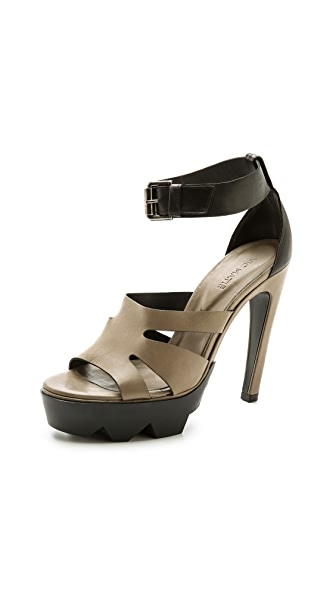 Vic Matie Cutout Ankle Strap Sandals