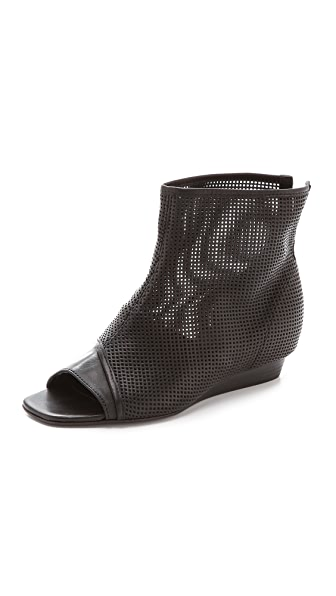 Vic Matie Open Toe Wedge Booties