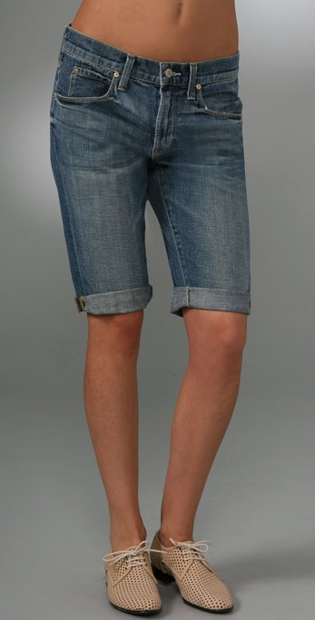 Vince Denim Cuffed Shorts