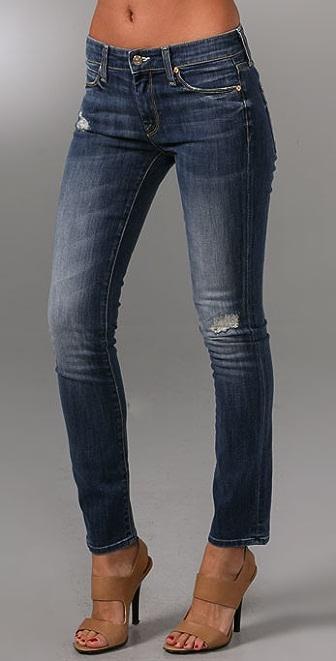 Vince Denim Mended Ankle Skinny Jeans